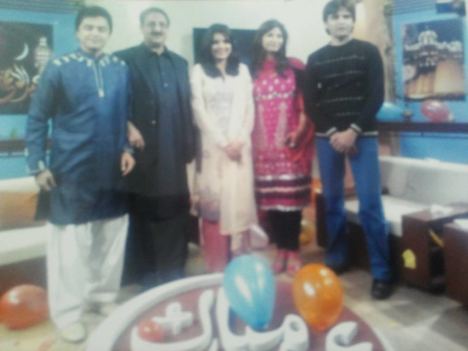 I H Malik With Rohi TV Channel team