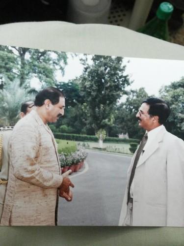 I H Malik With the Former Governor Punjab