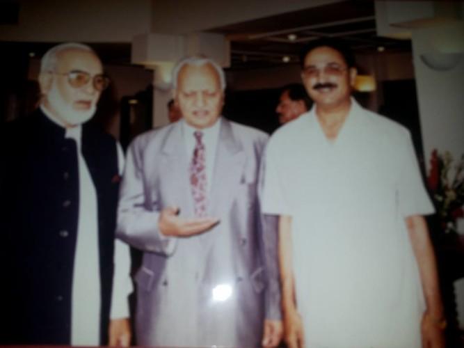 I H Malik with Zahid Malik Cheif Editor Pak Observer and General Majeed Malik