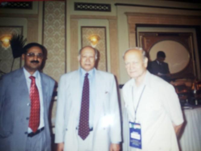 IH malik with Raja Tiri Deao Rari Former Minster