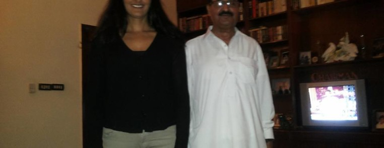 IH malik with Seher Ahmed Polo Player