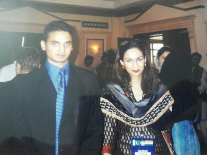 My Son Jawad with Senator Shery Rehman