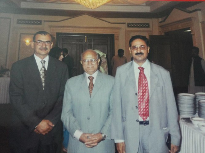 With Former Chief Justice Irshad Hussain Sahib