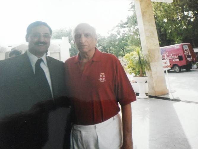 With Sahibzada Yaqoob Ali Khan former Gen RTD Pak Foreign Minister