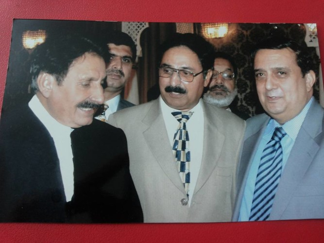 With former Chief Justice Iftikhar Ch