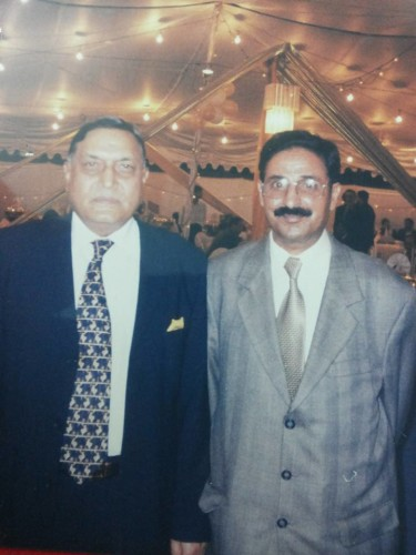 With former Interior Minister Gen Moinuddin