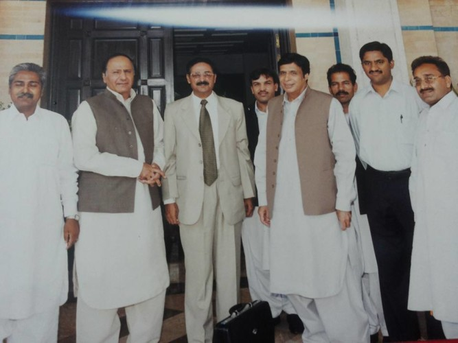 With former Prime Minister and Chief Minister punjab
