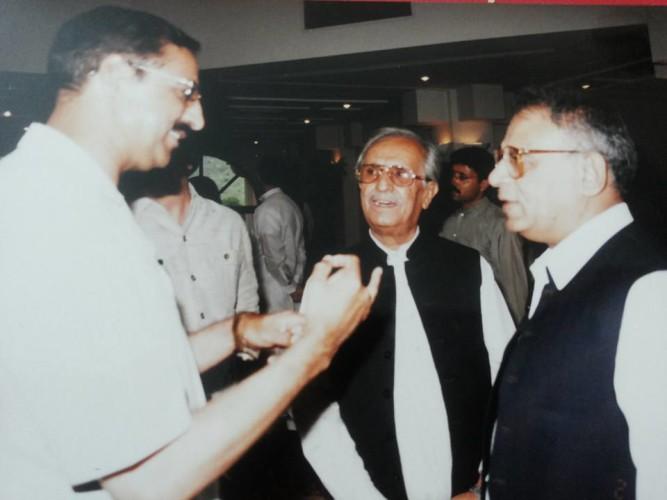 With former Senate Chairman Waseem Sajad