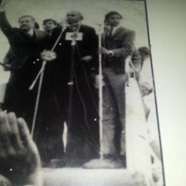 I H Malik with  Zulifqar Ali Bhuto on Right Side of The Front